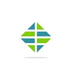 square shape business finance logo vector image