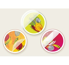 autumn offers stickers set vector image vector image