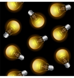 Light bulb seamless pattern vector image vector image