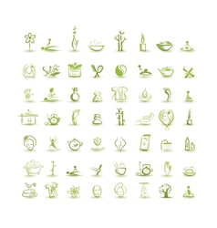 Massage and spa set of icons for your design vector image