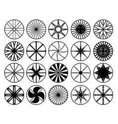 Wheel rims vector image