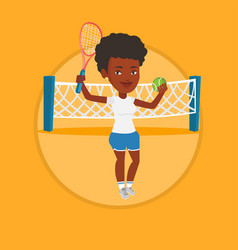 female tennis player vector image vector image