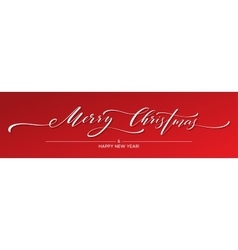 Merry Christmas Hand lettering Greeting Card with vector image vector image