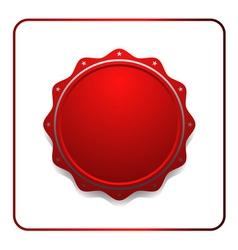 Seal award red icon vector image