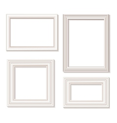 White picture frames vector