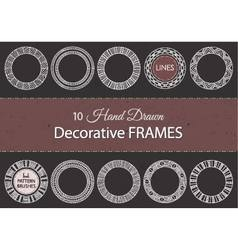 10 decorative hand drawn frames vector