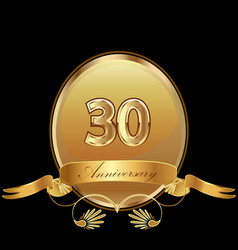 30th golden anniversary birthday seal icon vector