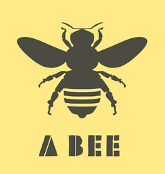 A bee silhouette vector