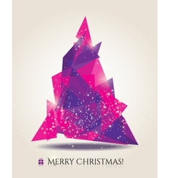 Abstract christmas card with modern elements vector