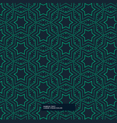 abstract green star shape pattern on blue vector image