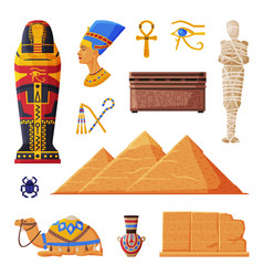 ancient egypt collection egyptian cultural and vector image