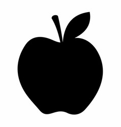 apple dark silhouette vector image