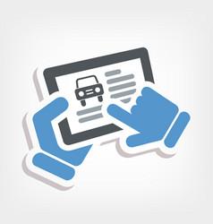 automotive web icon vector image