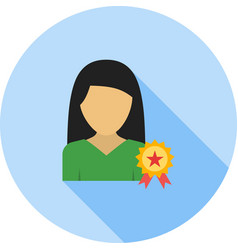 Awarded lady vector