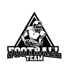 Badge team for american football in black vector