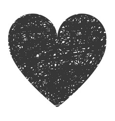 Black big heart icon vector