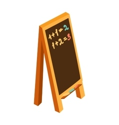 Blackboard or sandwich school chalkboard blank vector image