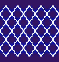 blue and white islamic pattern vector image