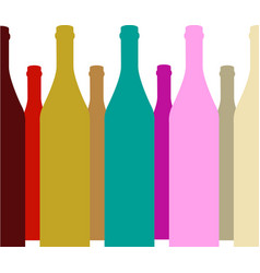 Bottle of alcohol vector