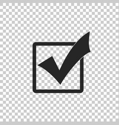 Check mark in a box icon isolated tick symbol vector