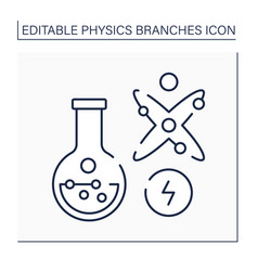 Chemical physics line icon vector