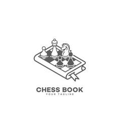 Chess book logo vector