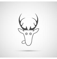 christmas deer head icon vector image