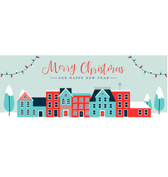 christmas holiday banner winter time greeting card vector image