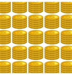 Coins money pattern isolated icon vector