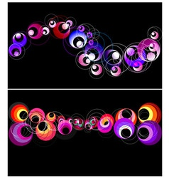 Colorful circles horizontal banner vector