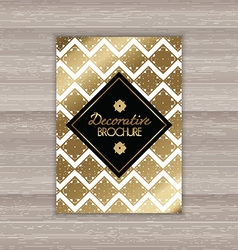 Decorative brochure design vector image