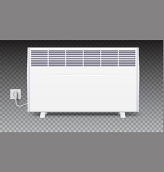 domestic electric heater with plug and electric vector image