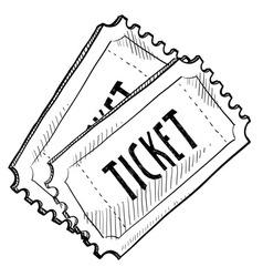 Doodle tickets vector