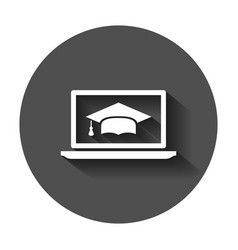elearning education icon in flat style study with vector image