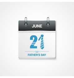 Fathers day date design background vector