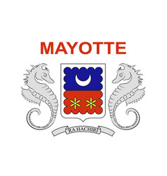 Flag of mayotte france vector