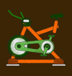 Flat shading style icon bicycle exercise vector