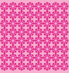 flower pink pattern ornament vector image