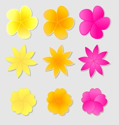 Flower stickers vector