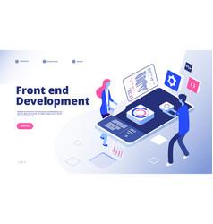 Front end development programmer develop computer vector