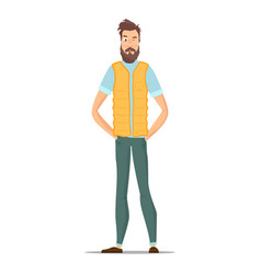 Funny bearded hipsters isolated on white vector