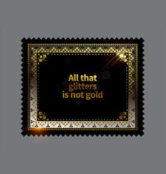 Gold ethnic frame background vector