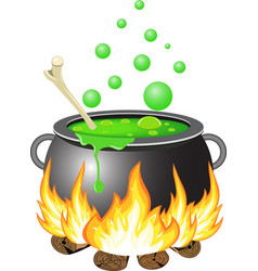 Halloween cauldron vector image