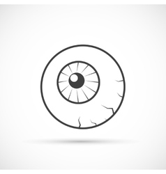 Halloween eyeball icon vector