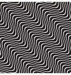 Hand Drawn Wavy Diagonal Lines Seamless vector