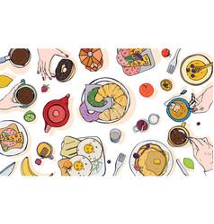 horizontal advertising on breakfast vector image