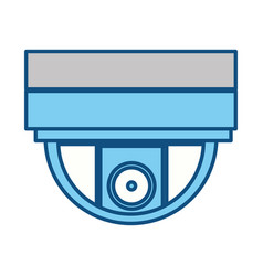 Isolated security camera vector