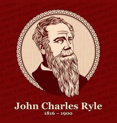 john charles ryle vector image
