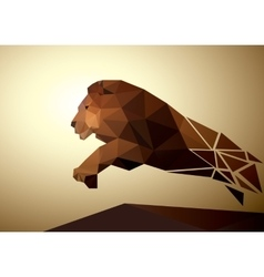 Lion polygonal geometric pattern design vector