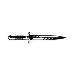Logo dagger painted military knife vector